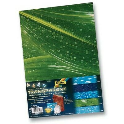 folia 83409 Transparentpapier 115 g/m², 23x33cm, 5 Elements Motive Set, mehrfarb
