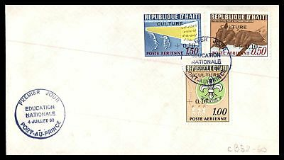 Haiti 1968 Education Nationale Combination Unsealed Fdc Cb58-60 First Day Of Iss