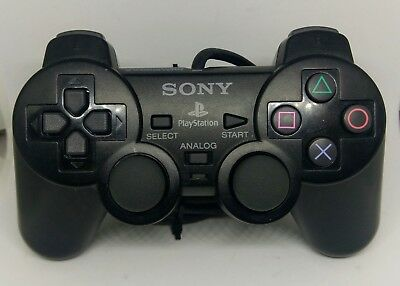 Sony PS2 PlayStation 2 Dualshock II Controller SCPH-10010 Black Official