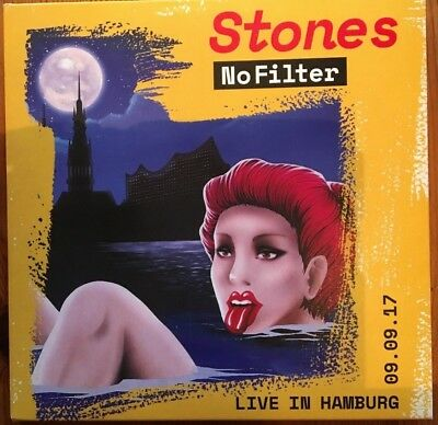"""Rolling Stones """"no Filter - Live In Hambourg 09.09.17"""" Rare Double Cd Neuf !"""