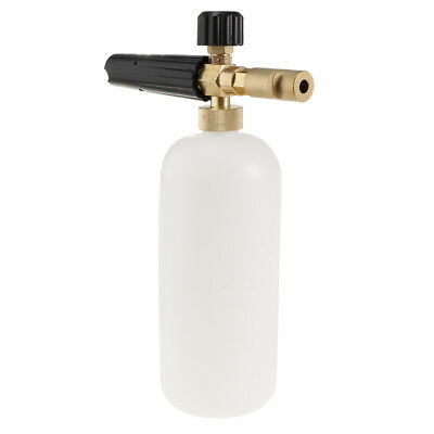 Pressure Washer Jet Wash Foam Lance Cannon Quick Release Adjustable Black