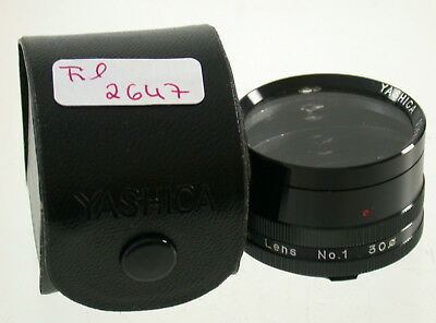 Yashica Mat 124-G Nahlinse Close-up Filter Lens Bajonett B-I No.1 Japan 2647/8