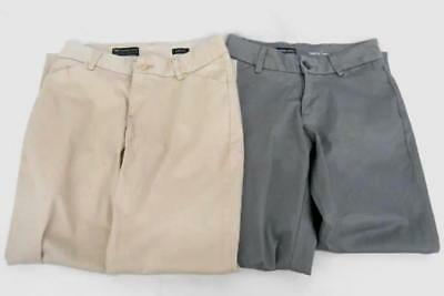 Lot of 2 Lee Modern Series Curvy Fit Chino Pants Slacks Trousers Size 10 S Short