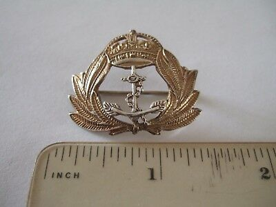 Solid Silver Royal Navy Sweetheart / Cap Badge with Anchor WW1?