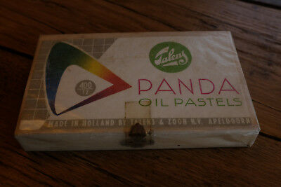 Vintage Talens Panda oil pastels in original sealed packing from the Netherlands