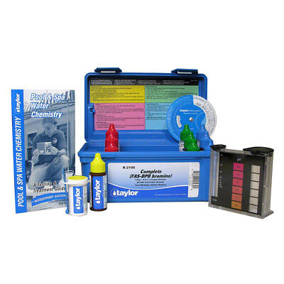Taylor K-2106 Complete Swimming Pool/Spa Water Test Kit FAS-DPD Bromine K2106
