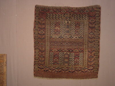 Gorgeous Authentic Antiqque 1880 Turkoman Yomud? Ensi Yurtdoor Rug ***hg***