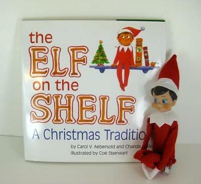 Christmas Tradition The Elf On the Shelf Plush Elf With Blue Eyes & Book