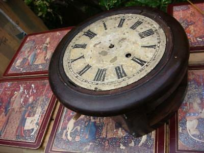 Vintage  Clock movement Come inside the part of Circle Case  For Spare Or repair
