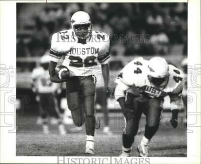 1990 Press Photo Sam Houston football players Vincint Yates and Damond Andrews