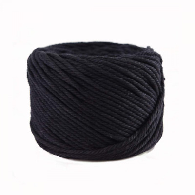 (Black, 4mm x 100m(About 109 yd)) Handmade Decorations Natural Cotton Bohemia Ma