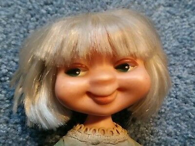 """Vintage Whimsies Doll American Character Lites Out 8"""" Original Outfit"""