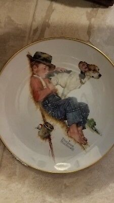 Plate Norman Rockwell Big Brother Collectors Edition Limited Edition