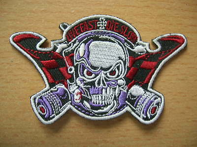 Patches/Patch Live Fast + the Slow Item 90002 Skull Hot Rod