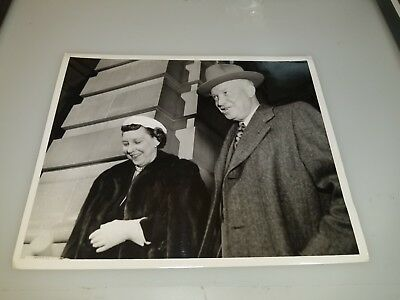Vintage Photograph Of President And Mrs Dwight D Eisenhower Lot #2