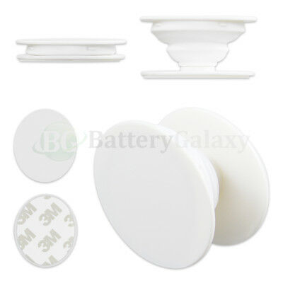100X Universal Pop Up Phone Samsung Holder Grip Oval Mount Expand Stand WHITE