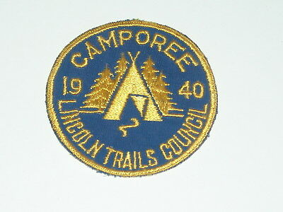 Lincoln Trails Council 1940 Camporee patch