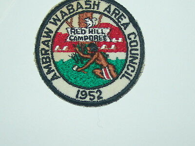 Ambraw Wabash Area Council - 1952 Red Hill Camporee - glue paper on part of back