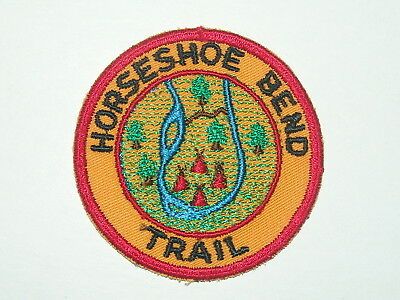 trail patch - Horeshoe Bend Trail - red cut edge