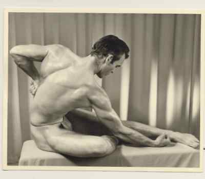 """Western Photography Guild, male physique photograph, 4x5"""", 4 of 11, gay interest"""