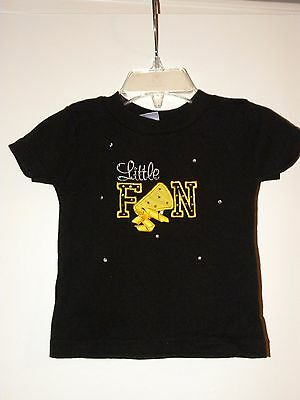 "Girls Infant ""Kota Couture"" Bedazzled Short Sleeve Black Shirt (12 Months)"
