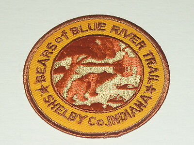 trail patch - Bears of the Blue River Trail - Shelby Co. Indiana