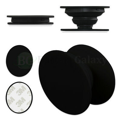 25X Universal Pull Up Phone Samsung Holder Grip Oval Expanding Stand Pure BLACK