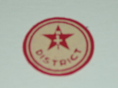 North Star District - red felt patch
