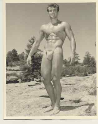 """Western Photography Guild, male physique photograph, 4x5"""", 9 of 11, gay interest"""