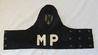 US ARMY MILITARY POLICE WW2 ARM BAND Original Wool Patch MP Nice Old