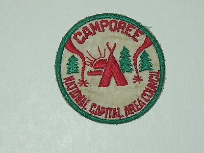 National Capital Area Council Camporee - green cut edge patch - used