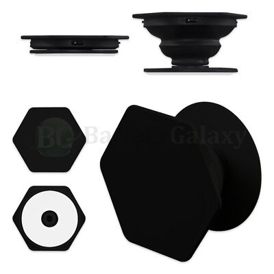 50X Universal Pop Up Phone Expand Stand Hand Grip Hex Mount For iPhone Samsung