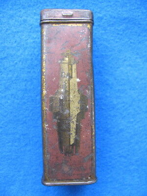 Vintage, rare, antique D & D Co. spark plug empty TIN