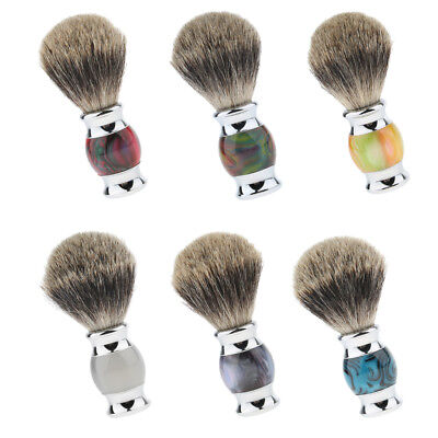 Beard Shaving Brush Men's Shave Cosmetic Grooming Tool with Wooden Handle