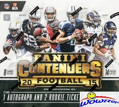 2015 Panini Contenders Football Factory Sealed 14 Pack Box-1 AUTO+2 RC SWATCH