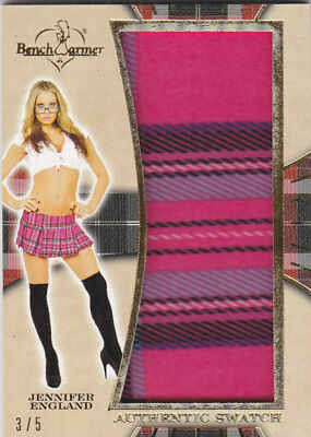 2018 Benchwarmer Hot For Teacher Jennifer England Authentic Swatch Card /5