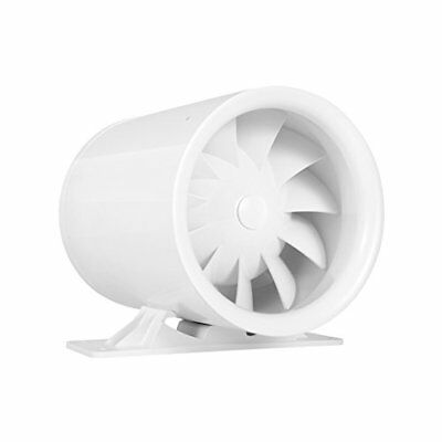 "4"" Silent Inline Duct Booster Fan, 47 CFM, Intake Quiet Mixed Flow Energy Blower"