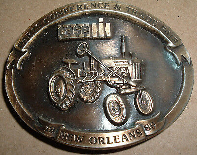 Case IH 1989 Parts Conference & Trade Fair Belt Buckle New Orleans Tractor theme