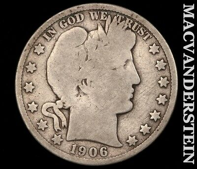 1906-S Barber Half Dollar-Semi Key Better Date!! #c6633