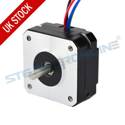 0.9deg Nema 17 Stepper Motor 11Ncm(15.6oz.in) 1.2A 20mm Length 4-wire 3D Printer
