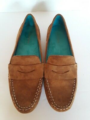 71ddb190b4d824 Solesensability Womens Shoes Size 10 M Brown Suede Penny Loafers Leather  Upper