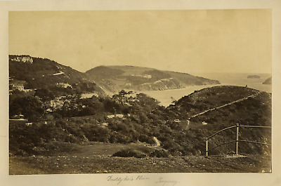 Angleterre, Torquay, Daddy hole plain Vintage albumen print.Daddy hole plain