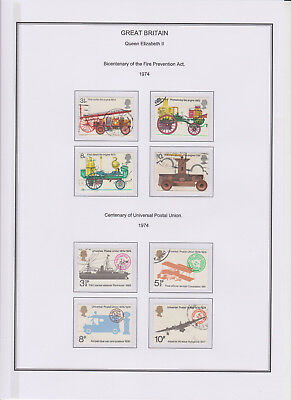 GB Used Stamp Collection 1974 Full Commemorative Year Set Complete See All Scans
