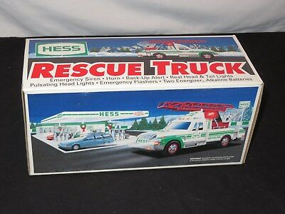Hess Truck Rescue Toy Truck wt Extension Ladder Lights & Sounds mint in box