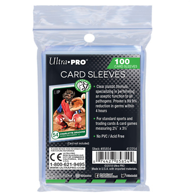 (100) Ultra Pro Antimicrobial Trading Card Sleeves Safely Keeps Cards Germ Free