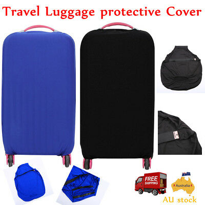 Travel Elastic Solid Color Luggage Suitcase Protective Cover for 20/24/28inch