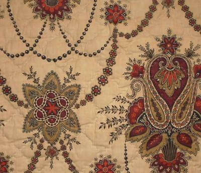 AUTUMN CLEAROUT, 19th CENTURY FRENCH QILTED MADDER INDIENNE c1840s/50s, 26.