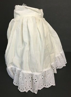 Vintage Girls Toddler Cotton Petticoat Skirt Half Slip With Attached Netted Slip