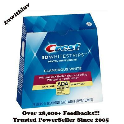 Crest 3D White Whitestrips Luxe Glamorous White Teeth Whitening Pouches Strips