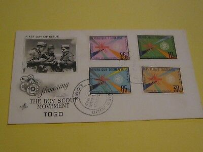 Togo, FDC, The boy scout movement, tolle Marken, Foto
